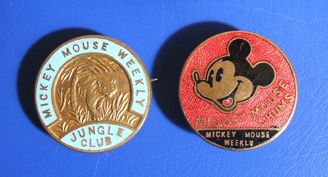 Mickey Mouse Weekly children's club badges – Mickey Mouse Chums & Jungle Club (1936-1939)