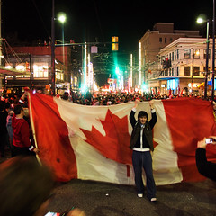 Go Canucks! (ecstaticist) Tags: street city winter party urban canada hockey canon fun gold bill mess all granville flag cost cleanup games hangover medal celebration olympics done now 2010 vanouver except vancouver2010 g10