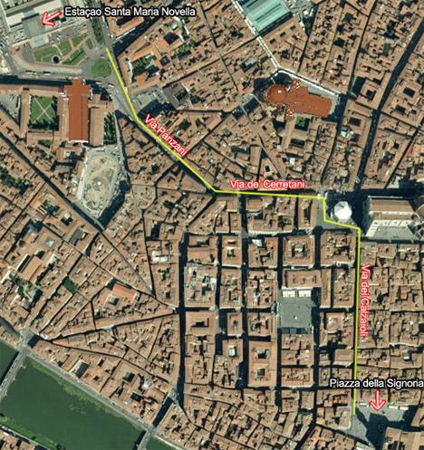 Piazza della Signoria mapa