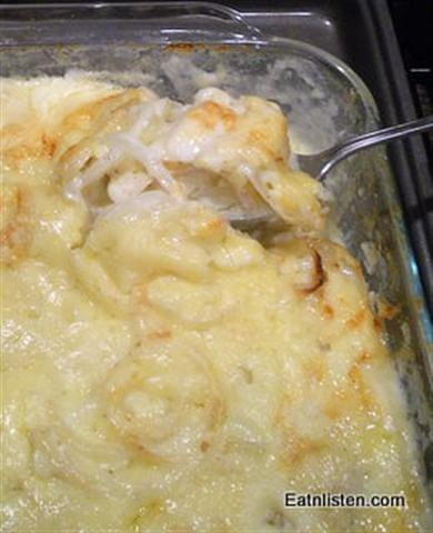Eat n Listen's Creamy-Dreamy-Scalloped-Potatoes