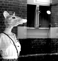 Mouse Mannequin (Lea_Williams) Tags: reflection mannequin window monochrome digital canon mouse mono bricks australia melbourne victoria shopwindow dslr hawthorn 2010 glenferrieroad clothingshop canoneos1000d