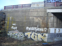 sheffield to lincoln 04/03/2010 (yorkshirepuddin) Tags: art graffiti ten jerk outdoorart 040310 misterjones sheffieldgraffiti