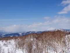 後方羊蹄山とニセコアンヌプリ