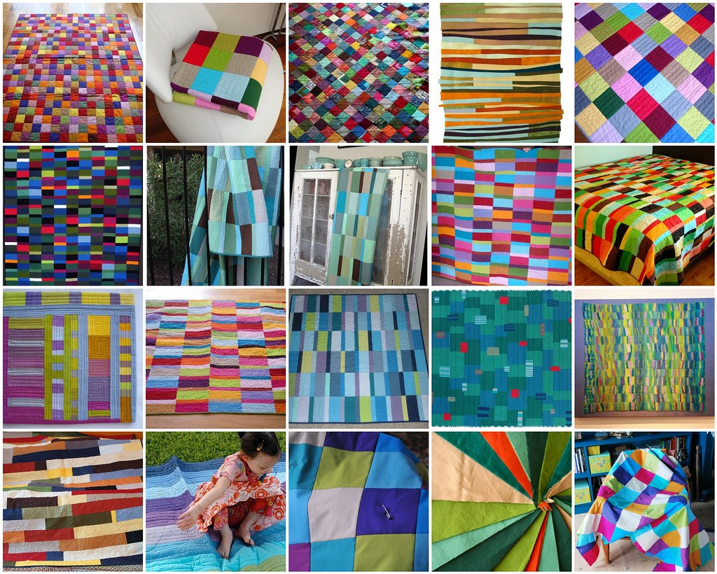 quilts and fabrics in solids