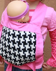 FFS Drawing!!! Pink and Houndstooth Diva Mei Tai for Children/Toddlers