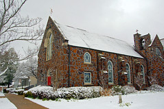 First Christian Church.... (kelly-bell) Tags: building church weather architecture mississippi fcc february meridian snowday mychurch firstchristian fotoguia 02122010