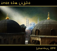into the light (jesuscm [ONLY EXHIBITION]) Tags: light luz church museum turkey nikon  iglesia mosaics istanbul mosque cupola mezquita museo bluemosque domes hag
