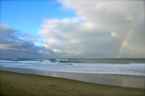 rainbow at the Oregon coast