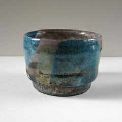Raku Teabowl (turquoise) (Jude Allman) Tags: ceramic ceramics handmade turquoise crafts craft bowl pot pots jude clay pottery bowls crackle raku stoneware teabowls folksy allman teabowl
