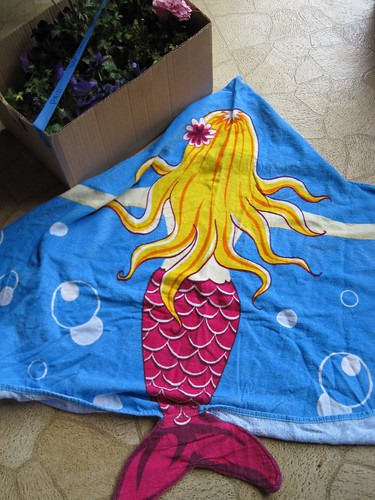 Thrifted Mermaid Towel