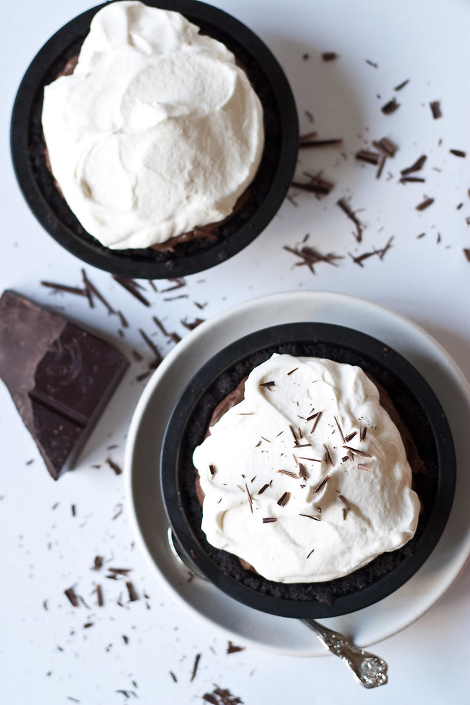 Chocolate cream pies for Pi Day