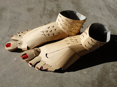 feet shoes (Feral Percy) Tags: art feet shoes cardboard recycle