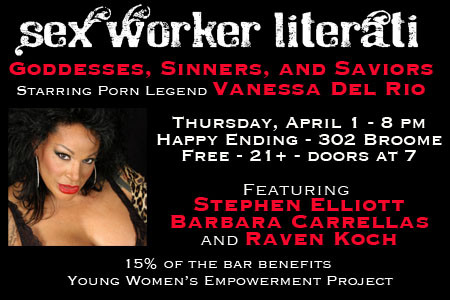April 1 edition of Sex Worker Literati is all about Goddesses, Sinners, and Saviors
