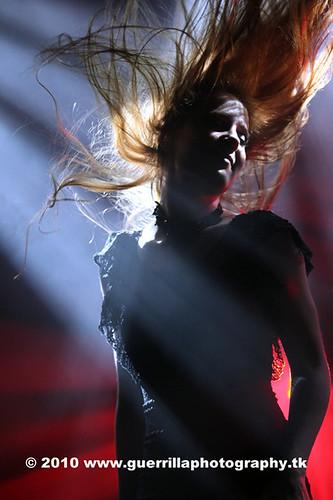 Singer Simone Simons performing