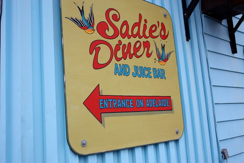 Sadie's diner sign