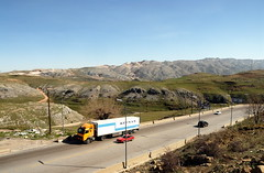 TRUCKING IN LEBANON (Claude  BARUTEL) Tags: road lebanon truck mercedes transport eat valley middle beirut trucking bekaa