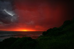 Most beautiful sunset ive ever seen (Susana Fabian) Tags: ocean sunset red australia victoria johannasbeach