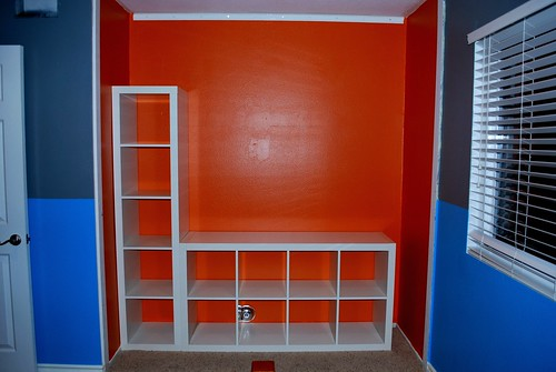 Orange Closet Makeover