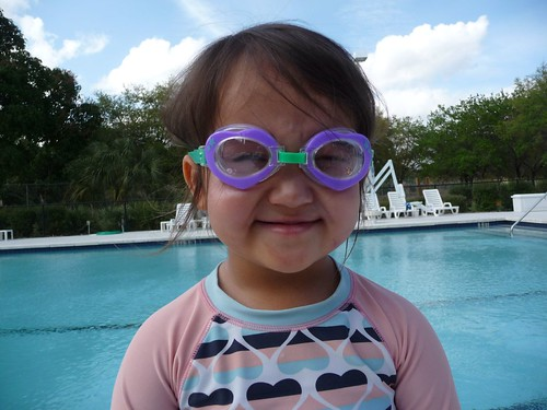 swimming goggles.