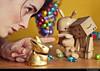 Vous n'avez pas honte? (Sandrine Escamilla) Tags: rabbit bunny easter toy figurine shame punishment jouet lapin easterbunny eastereggs chocolateeggs pâques yotsuba colère danbo oeufsdepâques fanelli honte punition lapindepâques revoltech gronder noferin danboard pecanpals oeufsenchocolat