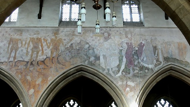 Three Quick and the Three Dead, medieval wall painting raunds northamptonshire