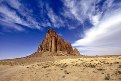 Naat'anii Nz or Thn, Shiprock New Mexico (jetguy1) Tags: travel vacation sky newmexico west clouds landscape volcano lava nikon scenic dine southwestus shiprock navaho naturesfinest neez nikond700 nikkor1424mmlens naataanli