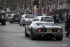 Ford GT 600RE Roush (IliasDeBie.be - iD Works) Tags: paris english ford car de grey automotive american plates gt limited edition supercar champselyses ilias roush bie 600hp idworks