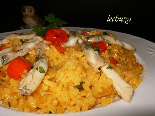 Navajas con arroz-plato 2