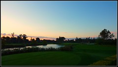 Early Tee Time (Minkn) Tags: blue red sky panorama cloud sun color green nature water beautiful norway club clouds reflections turkey golf walking spectacular landscape norge early nice pond scenery heaven skies colours time great lovers panasonic norwegian burning antalya scenary golfing stunning gras sultan tee turkish naturesfinest belek tyrkia tz7 minkn