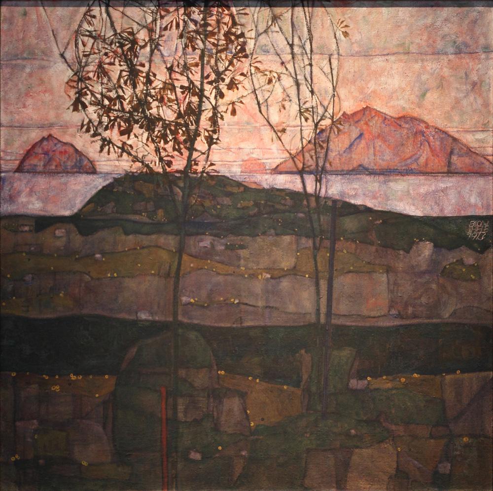 Egon Schiele, Versinkende Sonne [Sinking Sun], 1913