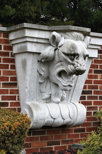 A lion's head from the Connor Hotel