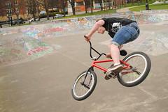 Skate Park (James Mappin) Tags: jump bmx sheffield spin 360 skatepark skateboard trick devonshiregreen tailwhip