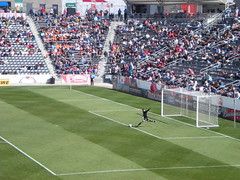 Rapids Goalie Launches the Ball