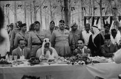 Hussein Ibn Talal [RF: Jordan RF];Akif Faiz;Saud Ibn Abdul Aziz [RF: Saudi Arabia RF];Ibrahim Hashim (K_Saud) Tags: prime king east jordan saudi arabia hashim middle foreign ibrahim abdul hussein minister talal rf aziz faiz ibn relations saud akif timeincown aqriculture 934975