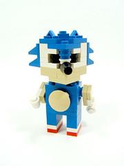 CubeDude Sonic the Hedgehog (optimus-convoy) Tags: game video lego sonic sega hedgehog hoppedonthebandwagon cubedude neededtobedone
