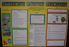 Poster from an action research project presentation in which I used Montessori methods to improve phonics provision.