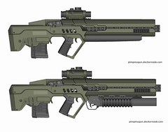 just a heavy plasma rifle (timberfox15) Tags: gun rifle scifi plasma pmg