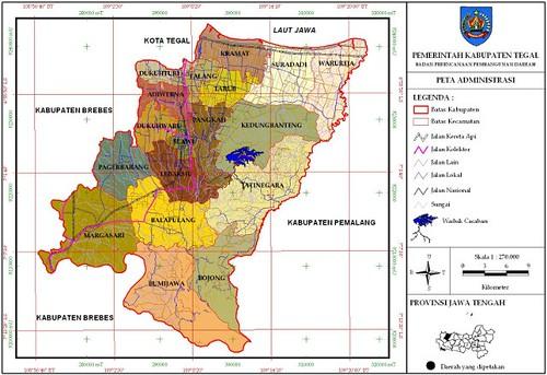 Peta Wilayah Kabupaten Tegal Gambar Jawa Timur