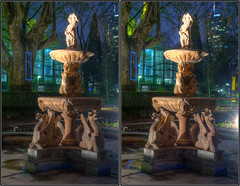 Fountain (stereo cross-view) (rawshooter72) Tags: statue canon eos stereoscopic 3d crosseye view cross frankfurt stereo stereoview hdr hdri 2010 wallanlagen spm crossview photomatix luminale xview tonemapped stereophotomaker 1000d