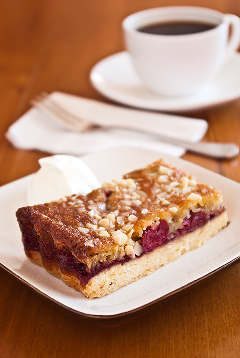 cherry and almond slice