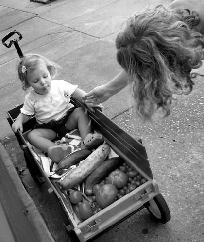 meigs amory and sarah vegeables 081306bw.jpg