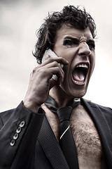 The big scream (alfonstr) Tags: boy portrait man canon retrato telephone scream chico stress telefono grito crit hombre yuppie retrat alfons gritar 2470 telèfon 40d ltytr1 alfonstr cridar