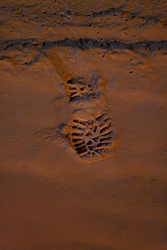 My footstep in volcanic ash