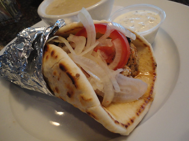 Cheap Eats Chicken Souvlaki Pita With Avgolemono Soupa at Yannis in Virginia Beach Va by patrickevanshylton