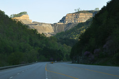 Mountaintop Removal Mine Site above Route 23 i...