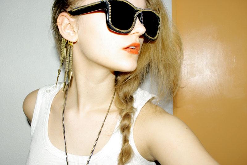 Style Hurricane DIY Alexander Wang zipper shades 2