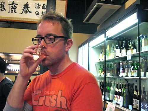 Sake tasting in Nara