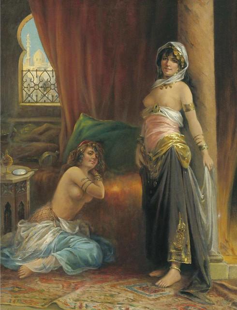 "ADRIEN HENRI TANOUX (1865 - 1923), ""HAREM BEAUTY"""