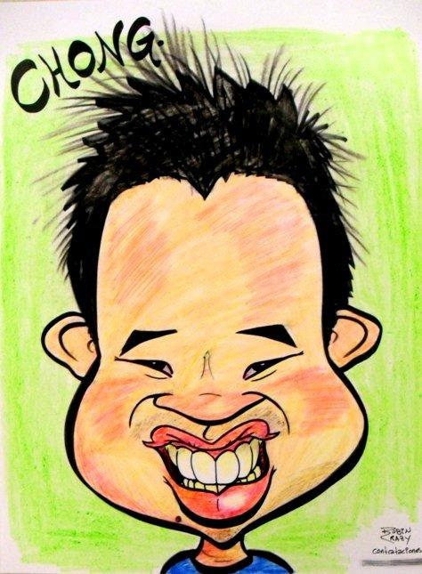 Jit's caricature by caricaturist Robin Crowley