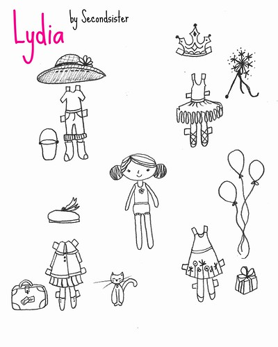 Lydia Paper Doll